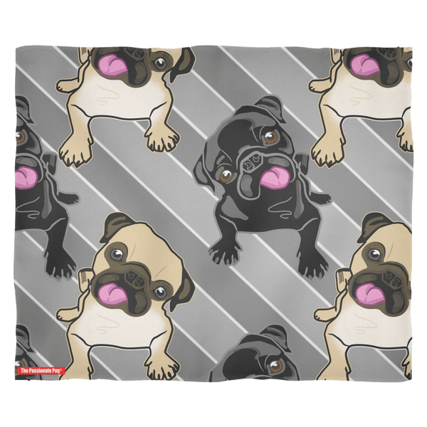All These Pugs Premium Fleece Blanket