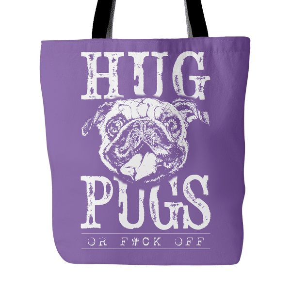 Hug Pugs Tote Bag - the passionate pug - Purple - 2