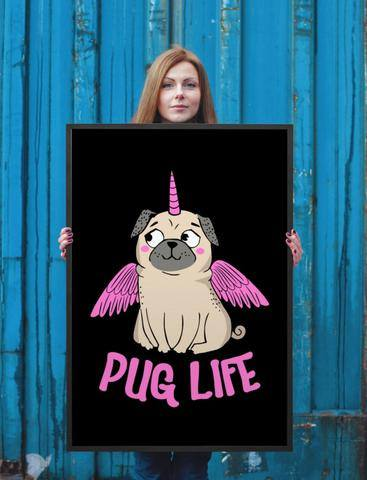 Pug Life With Wings Poster