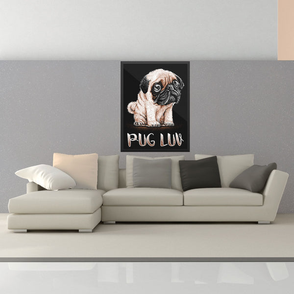 Pug Luv Wall Art - the passionate pug - 18×24 - 2