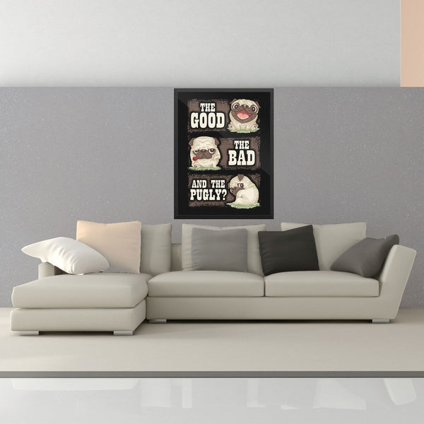 Premium The Good, The Bad & The Pugly Poster - thepassionatepug - 18x24 - 2