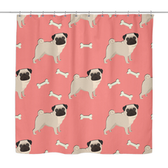 All Over Pug Shower Curtain
