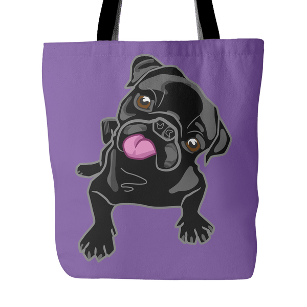 Black Pug Premium Tote Bag - thepassionatepug - Purple - 2