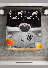 Pug News Bedding Set