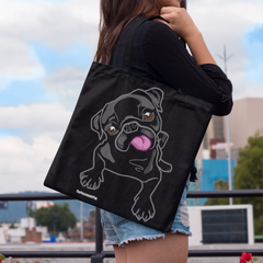 Black Pug Premium Tote Bag