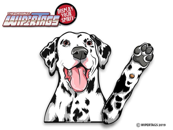 Dalmatian Dog Waving Wiper