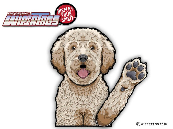 Doodle Dog Waving Wiper