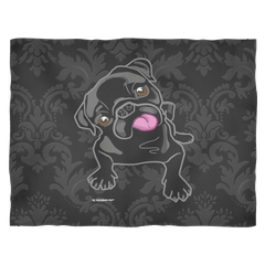 The Black Pug Fleece Blanket