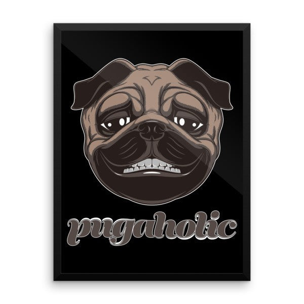 Pugaholic Wall Art - the passionate pug -  - 1