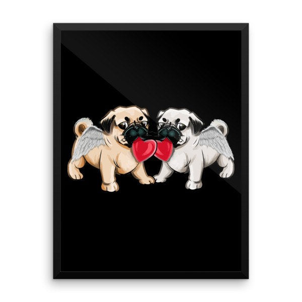 Love Pugs Wall Art - the passionate pug -  - 1