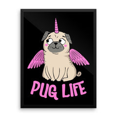 Pug Life With Wings Wall Art - the passionate pug -  - 1