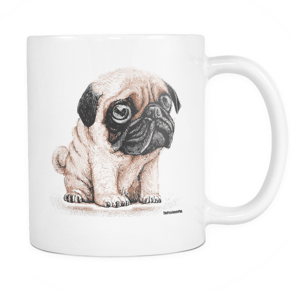 The Cutest Pug White Coffee Mug