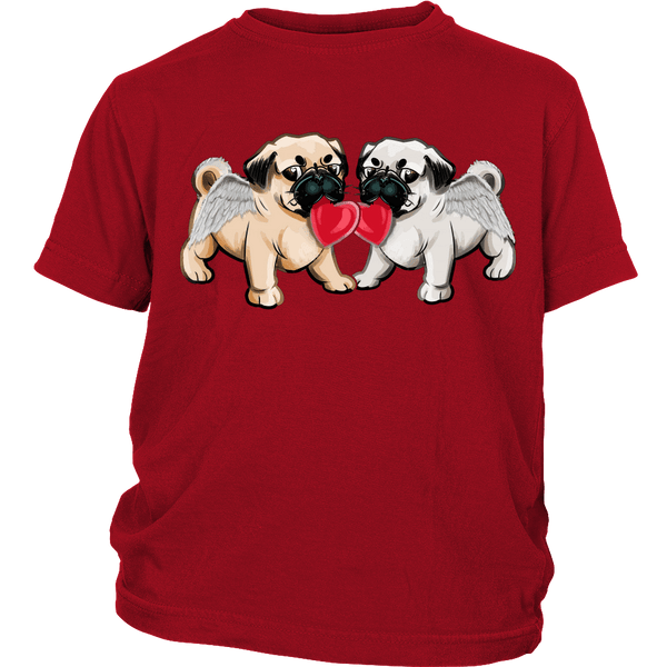Love Pugs Kids T-shirt - the passionate pug - District Youth Shirt / Red / XS - 3
