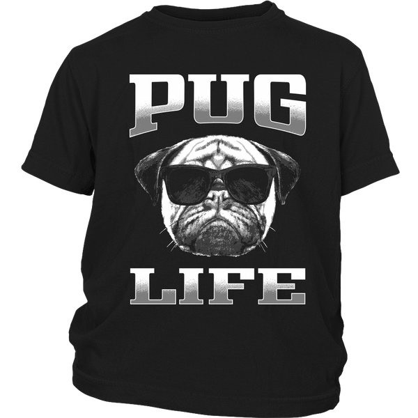 Pug Life 2 Kids T-shirt - the passionate pug - District Youth Shirt / Black / XS - 3