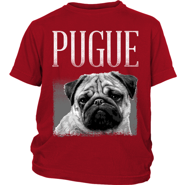 Pugue Kids T-shirt - the passionate pug - District Youth Shirt / Red / XS - 2