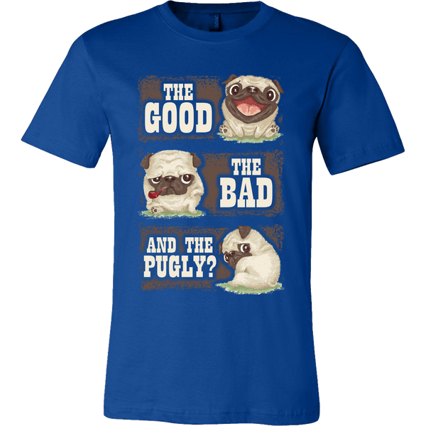 Men's The Good The Bad And The Pugly T-shirt - the passionate pug - Canvas Mens Shirt / True Royal / S - 2