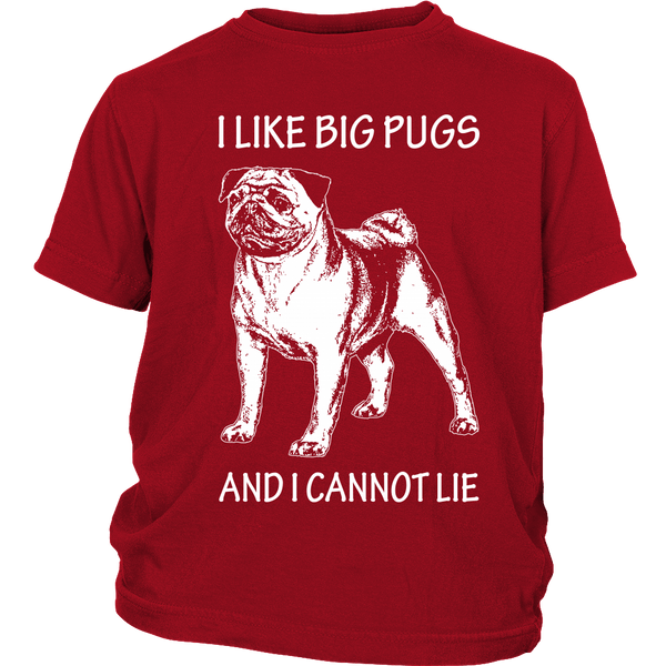 I Like Big Pugs Kids T-shirt - the passionate pug - District Youth Shirt / Red / XS - 2
