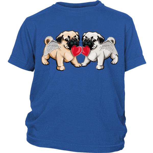 Love Pugs Kids T-shirt - the passionate pug - District Youth Shirt / Royal Blue / XS - 2
