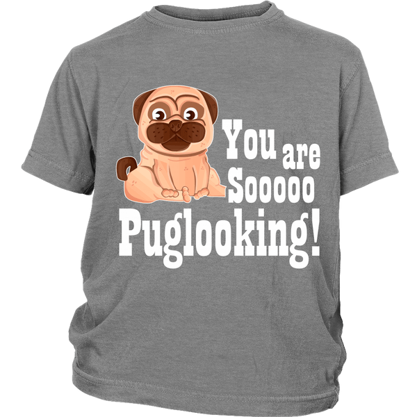 Puglooking Kids T-shirt - the passionate pug - District Youth Shirt / Sport Grey / XS - 4