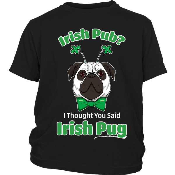 Irish Pug Kids T-shirt - the passionate pug - District Youth Shirt / Black / XS - 3