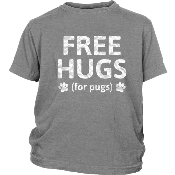 Free Hugs for Pugs Kid's T-shirt - the passionate pug - District Youth Shirt / Sport Grey / XS - 4