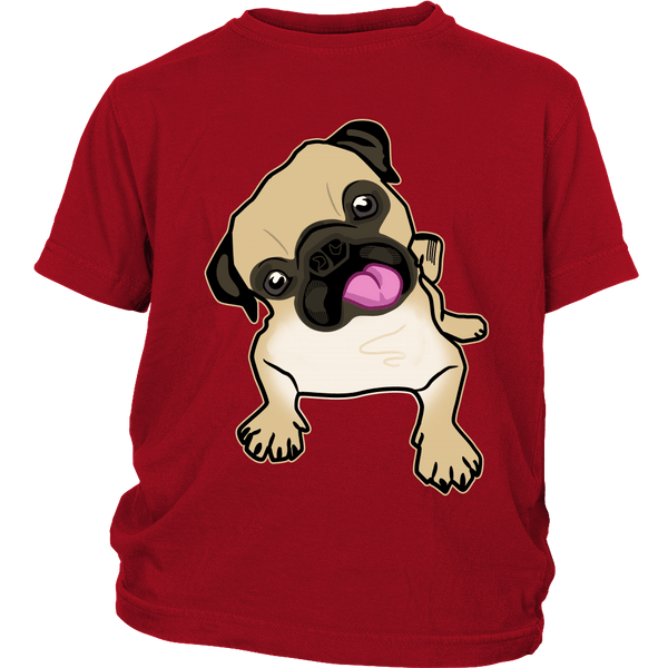 Fawn Pug Kids T-shirt - the passionate pug - District Youth Shirt / Red / XS - 3