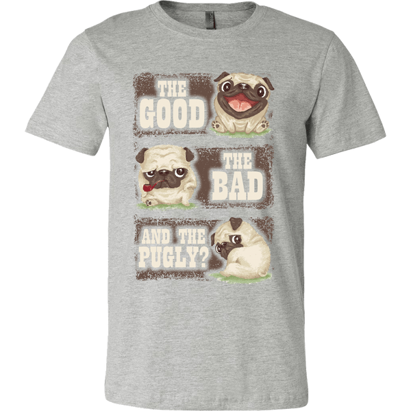 Men's The Good The Bad And The Pugly T-shirt - the passionate pug - Canvas Mens Shirt / Athletic Heather / S - 3