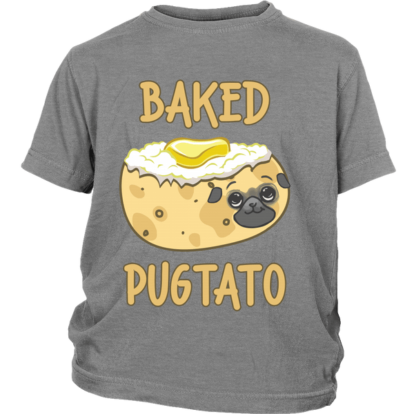 Baked Pugtato Kids T-shirt - the passionate pug - District Youth Shirt / Sport Grey / XS - 5