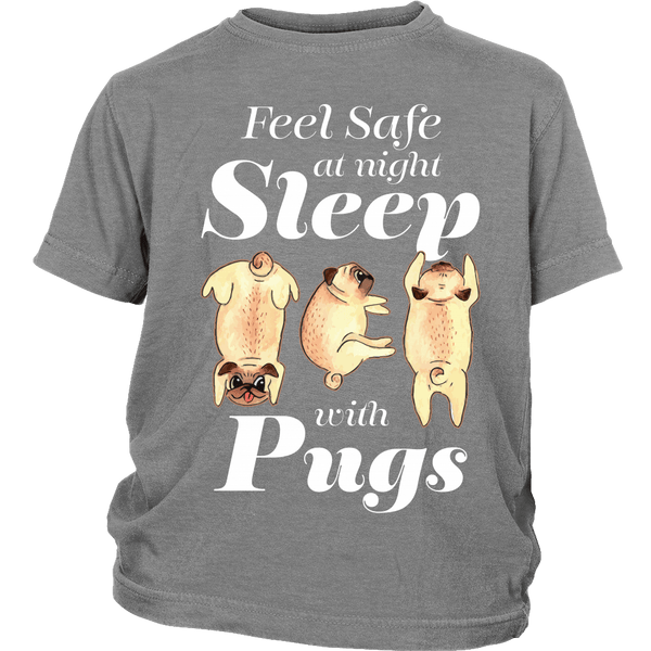 Sleep With Pugs Kids T-shirt - the passionate pug - District Youth Shirt / Sport Grey / XS - 4