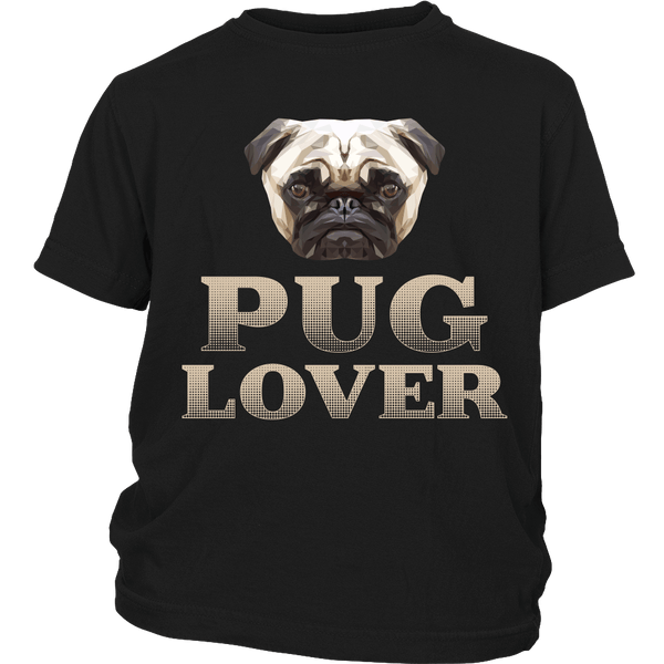 Pug Lover Kids T-shirt - the passionate pug - District Youth Shirt / Black / XS - 3