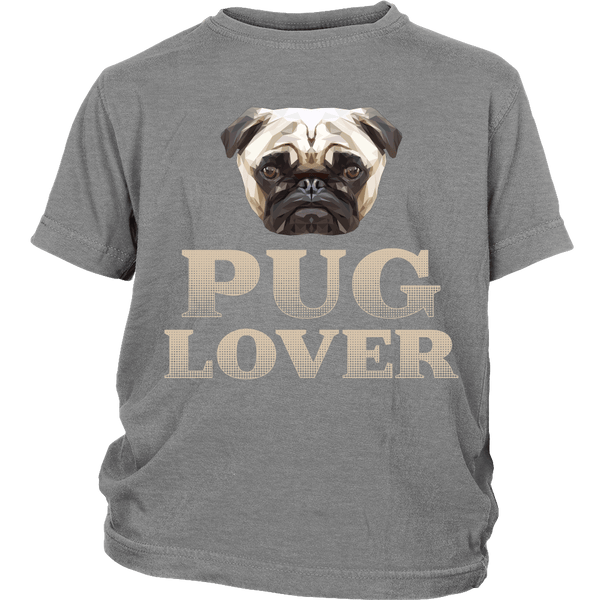 Pug Lover Kids T-shirt - the passionate pug - District Youth Shirt / Sport Grey / XS - 4