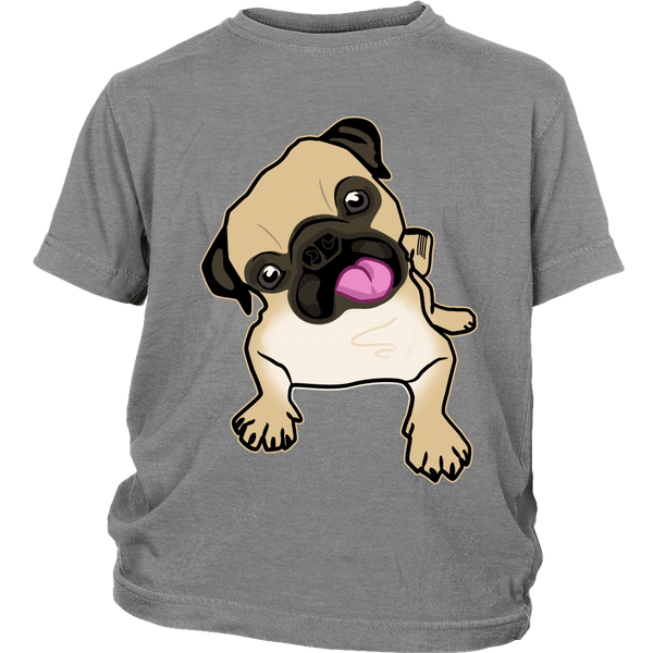 Fawn Pug Kids T-shirt - the passionate pug - District Youth Shirt / Sport Grey / XS - 5