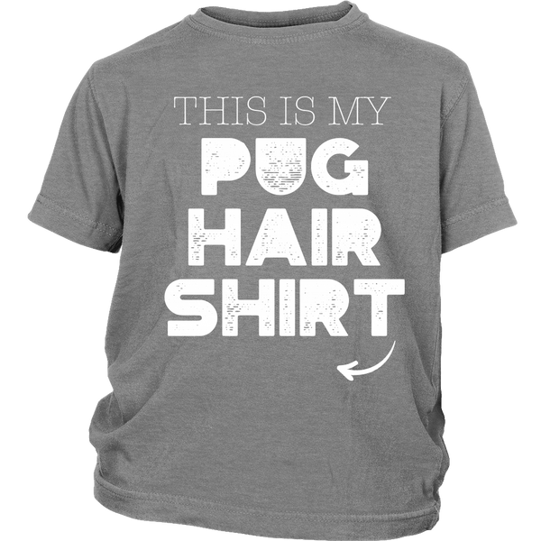 My Pug Hair Kids T-shirt - the passionate pug - District Youth Shirt / Sport Grey / XS - 4