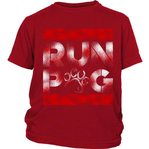 Run Pug Kids T-shirt - the passionate pug - District Youth Shirt / Red / XS - 2