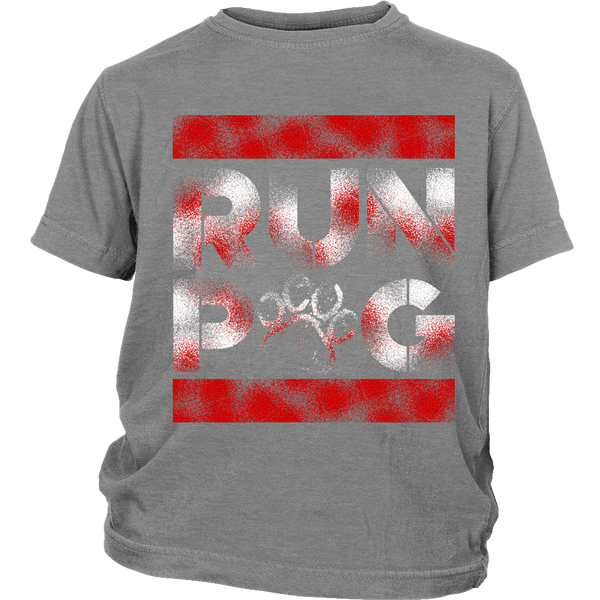 Run Pug Kids T-shirt - the passionate pug - District Youth Shirt / Sport Grey / XS - 4