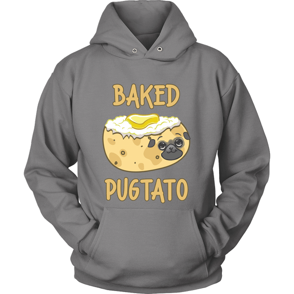 Baked Pugtato Hoodie - the passionate pug - Hoodie / Grey / S - 4
