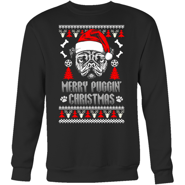 Merry Puggin' Christmas Holiday Sweater