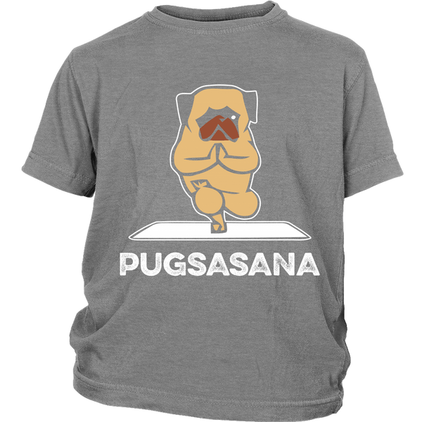Pugsasana Kids T-shirt - the passionate pug - District Youth Shirt / Sport Grey / XS - 4