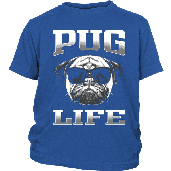 Pug Life 2 Kids T-shirt - the passionate pug - District Youth Shirt / Royal Blue / XS - 1