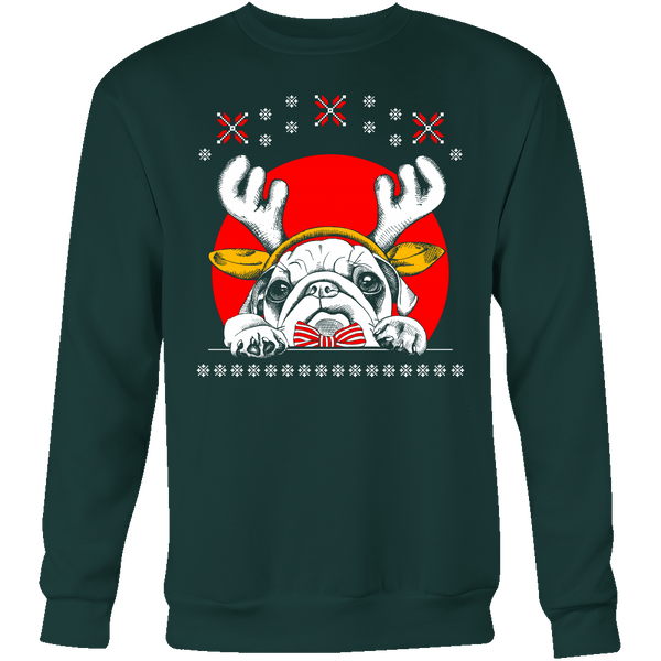 Reindeer Pug Holiday Sweater