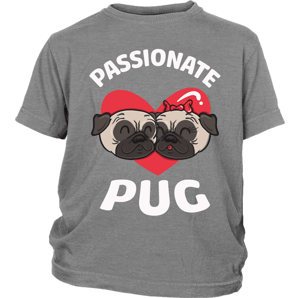 Passionate Pug Kids T-shirt - the passionate pug - District Youth Shirt / Sport Grey / XS - 4