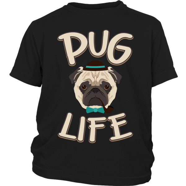 Pug Life Kids T-shirt - the passionate pug - District Youth Shirt / Black / XS - 4