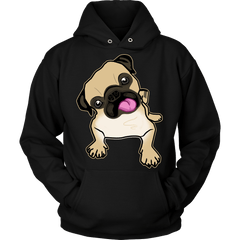 Fawn Pug Hoodie - the passionate pug - Hoodie / Black / S - 1