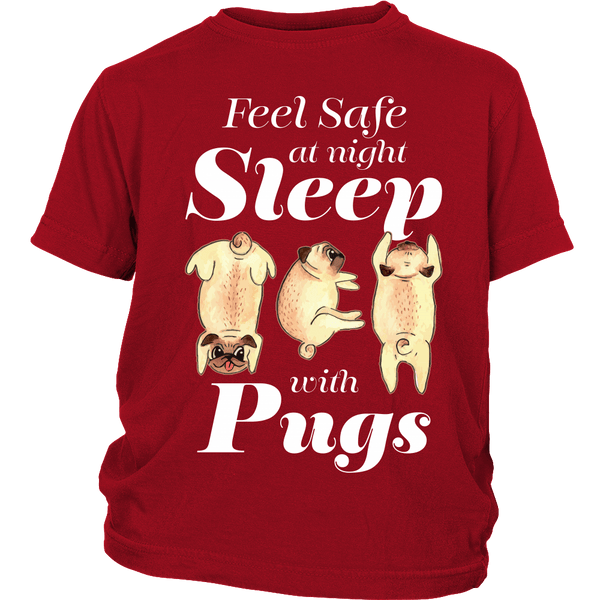Sleep With Pugs Kids T-shirt - the passionate pug - District Youth Shirt / Red / XS - 2