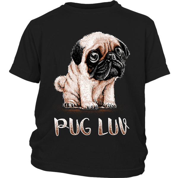 Pug Luv Kids T-shirt - the passionate pug - District Youth Shirt / Black / XS - 4