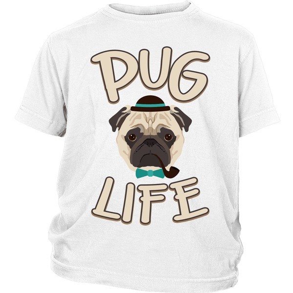 Pug Life Kids T-shirt - the passionate pug - District Youth Shirt / White / XS - 1