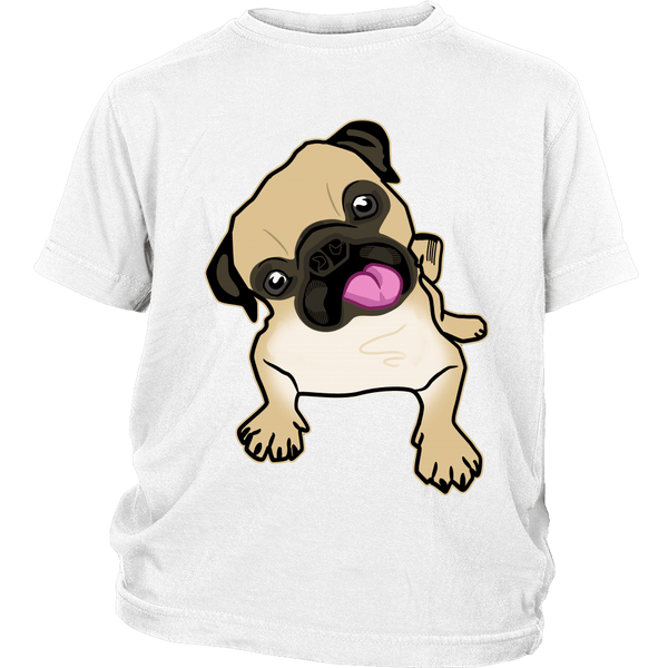 Fawn Pug Kids T-shirt - the passionate pug - District Youth Shirt / White / XS - 1