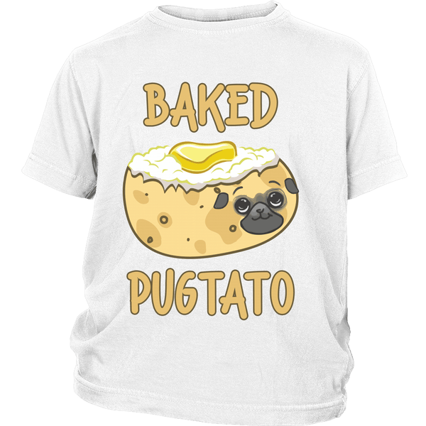 Baked Pugtato Kids T-shirt - the passionate pug - District Youth Shirt / White / XS - 1