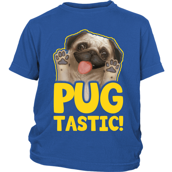 Pugtastic Kids T-shirt - the passionate pug - District Youth Shirt / Royal Blue / XS - 2