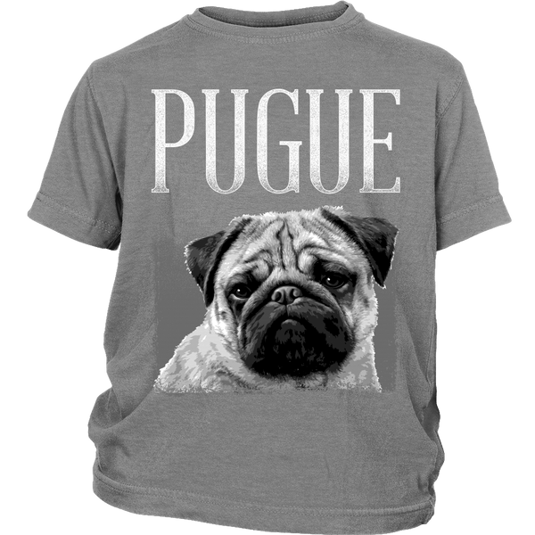 Pugue Kids T-shirt - the passionate pug - District Youth Shirt / Sport Grey / XS - 4